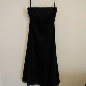 WHBM dark blue strapless dress size 6